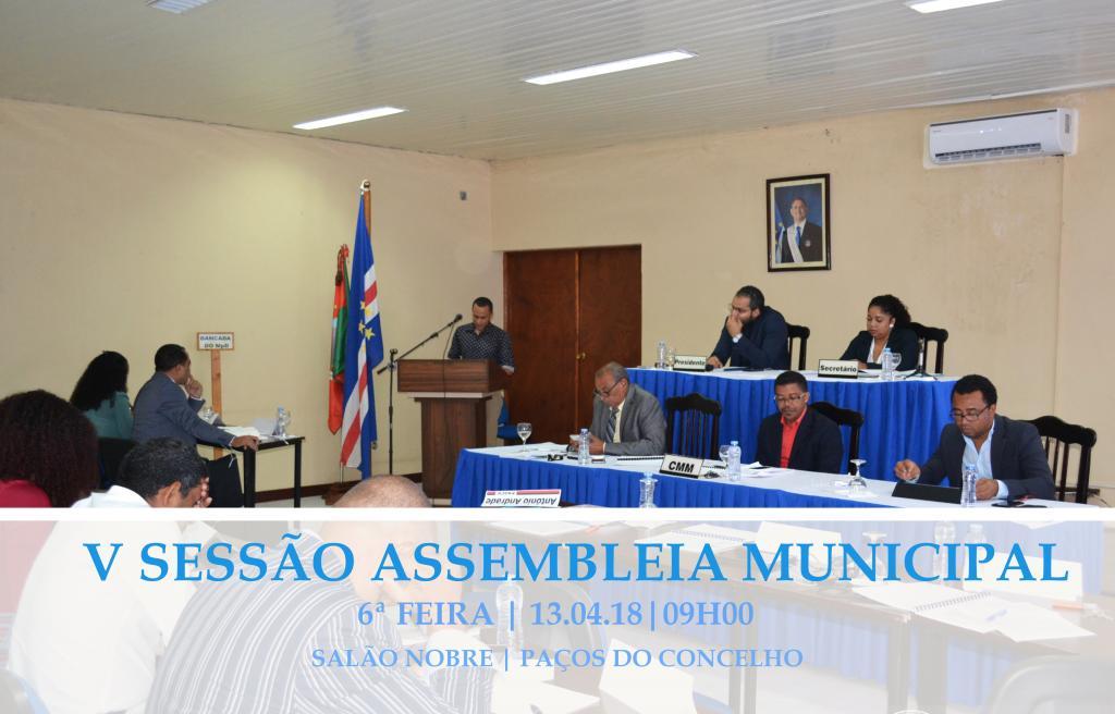 5ª Sessão da Assembleia Municipal