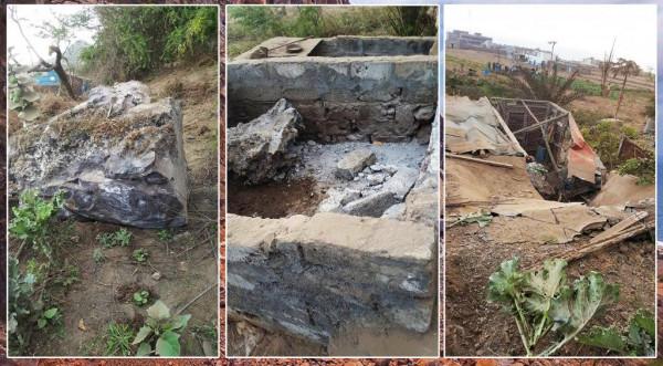 Estradas: Deslizamento de rochas na via de Sumbango causa prejuízos em propriedades agrícolas e gado