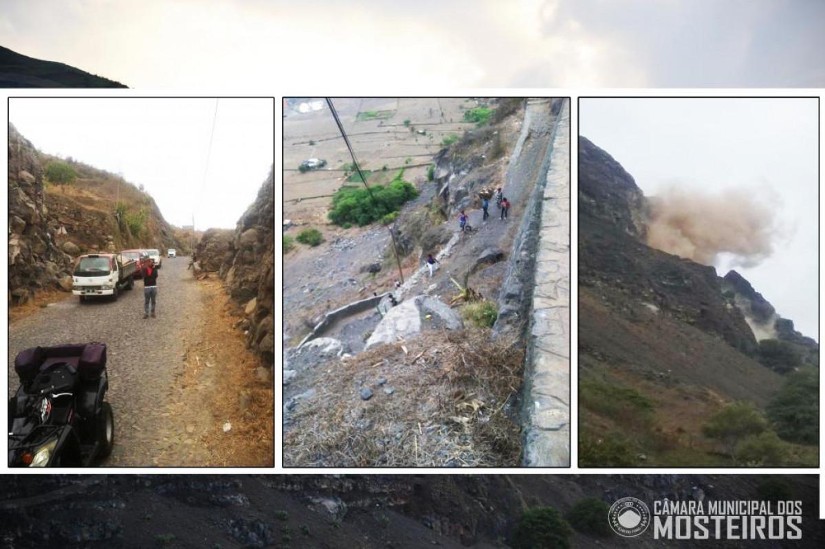 Infraestruturas: Rocha de Sumbango volta a desabar e paralisa trânsito na via norte
