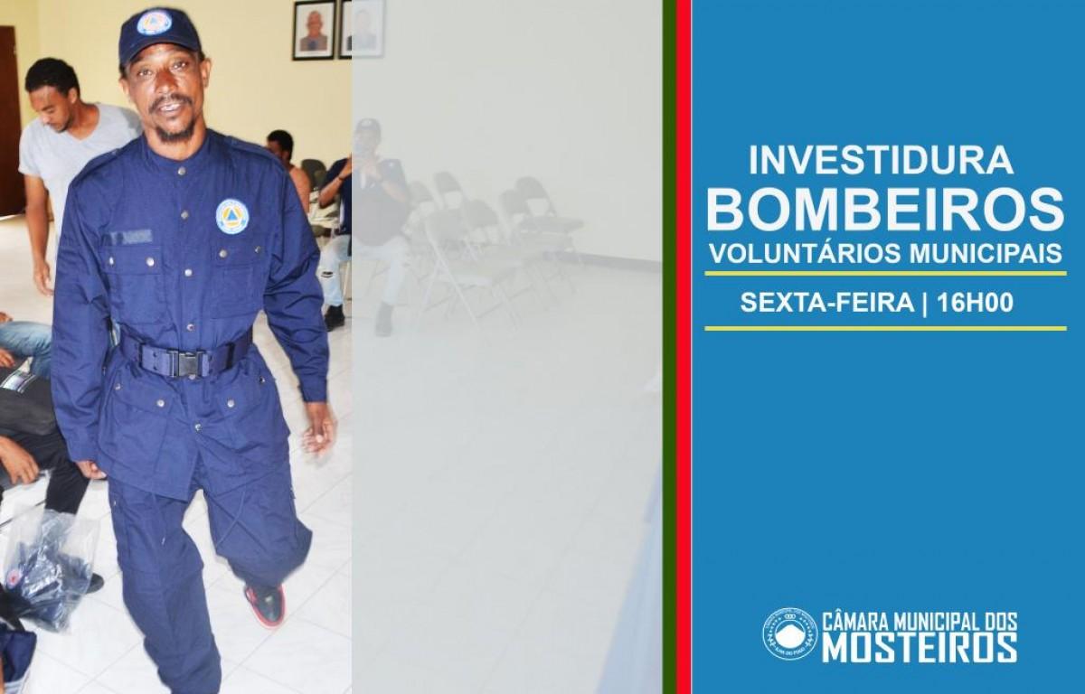 Proteção Civil: Investidura de Bombeiros Municipais realiza-se no novo CPC de Mosteiros
