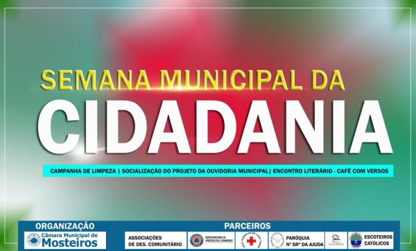 13 a 20 janeiro: Câmara organiza Semana Municipal da Cidadania