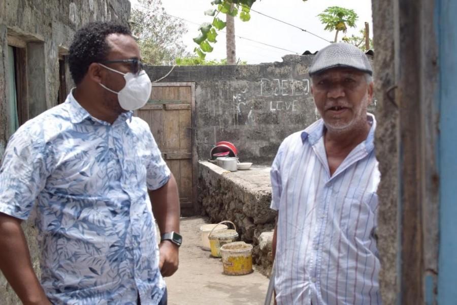 Zona Alta: Fábio Vieira lidera equipa da Câmara em visita a idosos, acamados e famílias vulneráveis
